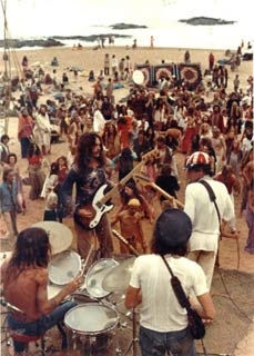 Big Dipper Band at Full Moon Party Anjuna, Гоа, Февраль 1978